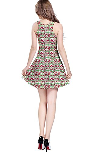 CowCow - Vestido - para mujer Green and Red