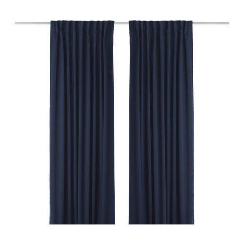 Verdunkelungsvorhang Ikea ikea werna verdunkelungsvorhänge 1 paar dunkelblau 145x300 cm