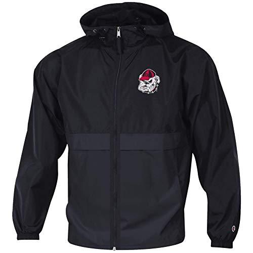 Champion Men's Georgia Bulldogs UGA Jacket Full Zip Windbreaker Jacket ()