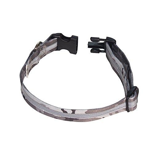 Petflect Reflective Dog Collar, Camouflage, Large