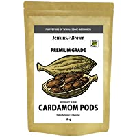 Jenkins & Brown Midnight Black Cardamom Pods - Premium Grade 100% Whole Dried Black Cardamom Pods. Smoky Flavor - Non…