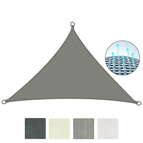 Sol Royal Garden Shade Sail SolVision HS9 Breathable UV Protection Canopy Sail Triangle 6 x 4.2 x 4.2 m HDPE Grey