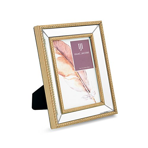Isaac Jacobs Mirror Bead Frame (5x7, - Gold Jacobs
