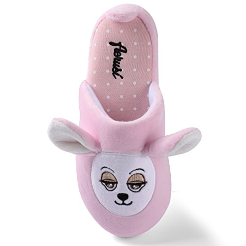Indoor Animal Pink Plush Bear Cute Fuzzy Slipper Shoes Teddy Adult Bear House Itsy Aerusi Winter Bedroom Kid nwYqTxvpR4