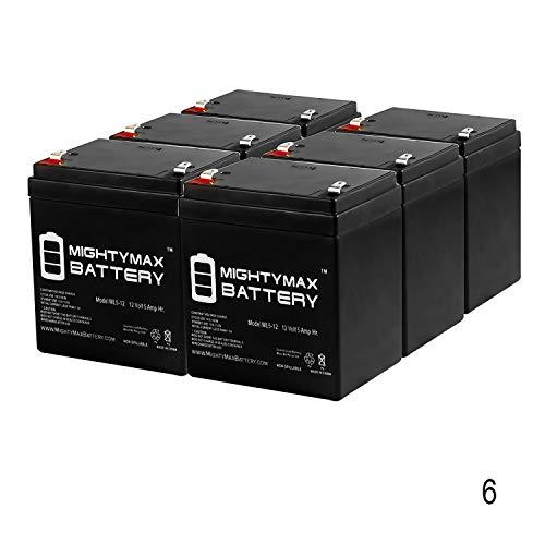 Control Elk M1ez8 - Mighty Max Battery 12V 5AH SLA Battery Replacement for ELK M1EZ8 Control Kit - 6 Pack Brand Product