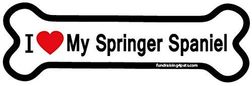 I Love My Springer Spaniel bone magnet