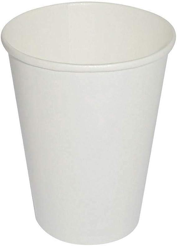 ILIP - 70 Vasos Blancos de 180 ml compuestos de Papel ...