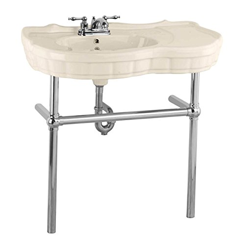 Bone Console Sink China Southern Belle With Chrome Bistro Legs ()
