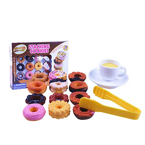 ViewHuge Stacking Cookie Doughnut Balancing Game for Kids The Best Welcome Gift for Girls and Boys
