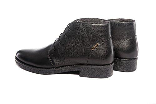 Herren Echt Leder Business Stiefel Schwarz Handgefertigt (SW001)