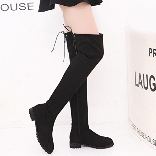 Bottines Cuissardes Chaussures Bottes Large Hiver Sexy Hauteur Talons Pointure Genoux Plates Cuir Femme OverDose d0wdqnOAv5