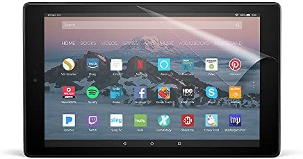 NuPro Clear Screen Protector for Amazon Fire HD 10 Tablet (seventh & ninth Generations - 2017 & 2019 releases) (2-Pack)