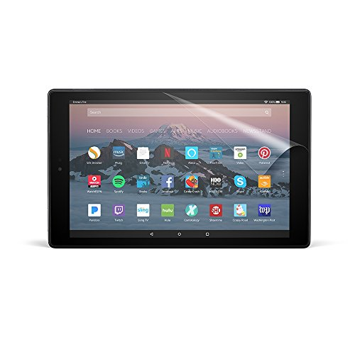 NuPro Clear Screen Protector for Amazon Fire HD 10 Tablet (7th Generation  - 2017 release) (2-Pack)
