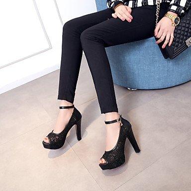 Toe Sandalswedding Confort Plataforma Peep Toe Tacones Toe Mujer Open Redondo Novedad Zapatos La De Boda Black 6Yf8qa