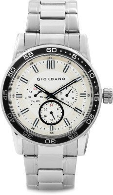 Giordano Chronograph White Dial Men's Watch - 1697-22