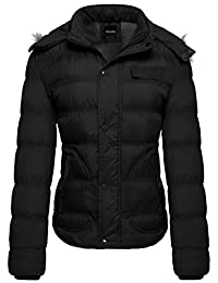 Wantdo Women's Faux Fur-Trimmed Quilted Puffer Jacket
