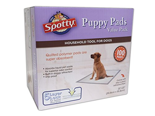 - Spotty 100 Count Puppy Pads