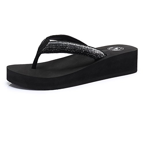 Camel Women's Slim Flip Flop Fashion Wedge Sandals Arch Support Thong Beach Flip-Flop (Sandals Flip Flop Slim)