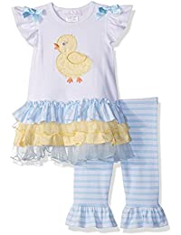 Bonnie Jean Baby Girls Appliqued Dress and Legging Set