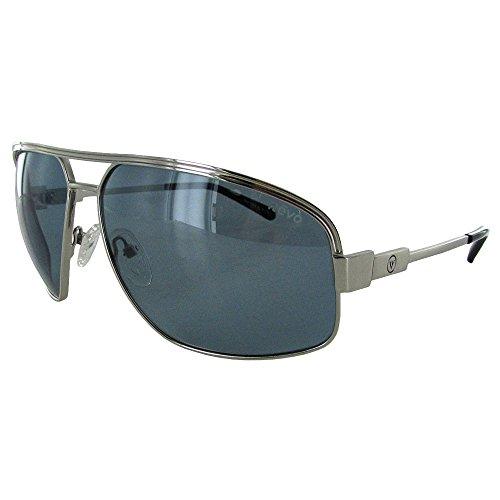 Revo Bono Collection Stargazer RB 1002 03 BBU Aviator Sunglasses, Chrome Blue, 61 - Sunglass Revo