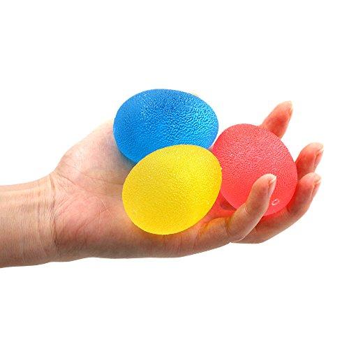 Handtrainer,Hand Fingertrainer&Handtrainings bälle Nakeey eiförmig Griff-bälle der beste Trainer für die Entwicklung der Hand- und Unterarmmuskulatur /Unterarm/Finger / Handmuskel -Set mit 3 Resistenz-Stufen