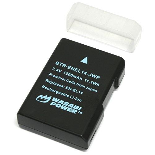 Wasabi Power Battery for Nikon EN-EL14, EN-EL14a and Nikon Coolpix P7000, P7100, P7700, P7800, D3100, D3200, D3300, D5100, D5200, D5300, Df