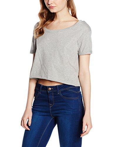 Urban Classics Ladies Short Tee, Camiseta para Mujer Gris (grey 111)