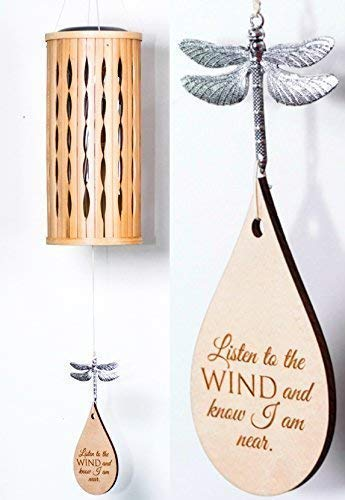 Solar Memorial Wind Chime in Memory of Adult or Child Eternal light Memorial Heaven day remembering mom death of mother or father Bamboo Woodstock Chime