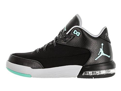 Nike Jordan Menns Jordan Flight Opprinnelse Tre Svart / Hyper Turq / Hvit  Basketball Sko 10 ...
