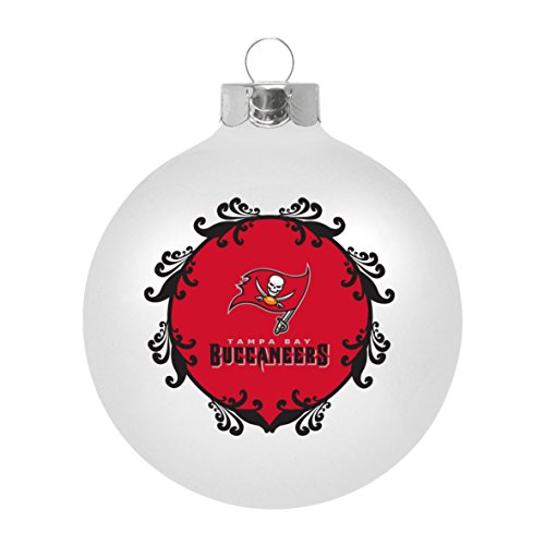 Tampa Glass Bay Ornaments Buccaneers (NFL Tampa Bay Buccaneers Large Ball Ornament)