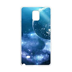 Blue Universe White Phone Case for Samsung Galaxy Note4