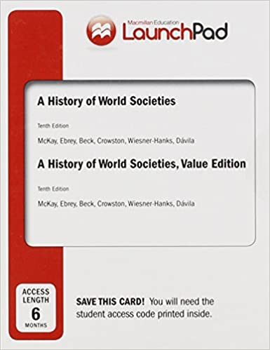 Amazon launchpad for a history of world societies and a amazon launchpad for a history of world societies and a history of world societies value edition six month access to 1600 9781457685972 john p fandeluxe Choice Image