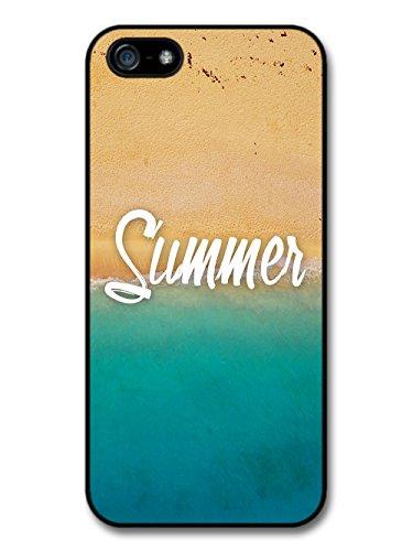 Summer Beach Coast Blue Sea Golden Sand Photography case for iPhone 5 5S
