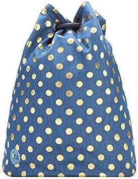 Mi-Pac Premium Swing Bag Bolsa de Cuerdas para El Gimnasio, 38 cm, 18 litros, Demim Polka