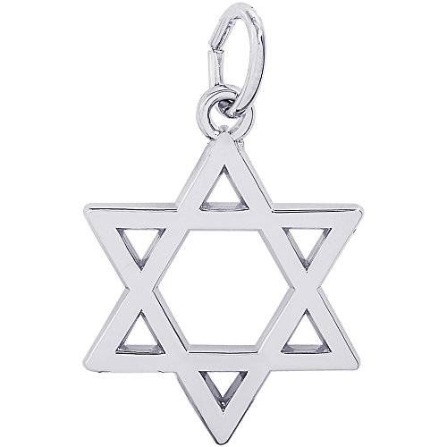 - Genuine Rembrandt Charms Sterling Silver Star of David Charm Measuring Approximately 9.5 x 8 mm