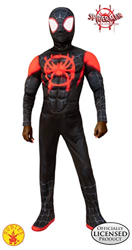 Rubie's Spider-Man: Into The Spider-Verse Child's Deluxe Mile Morales Spider-Man Costume, ()