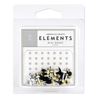 - American Crafts Elements Mini Brads, Elegant