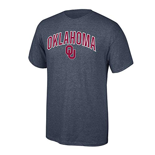 Elite Fan Shop NCAA Men's Oklahoma Sooners T Shirt Dark Heather Arch Oklahoma Sooners Dark Heather Small