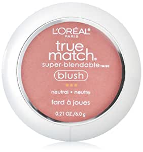 L'Oreal Paris True Match Blush, Apricot Kiss, 0.21 Ounces