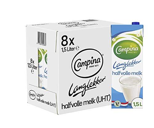 Campina Langlekker Halfvolle Melk 8 x 1.5 L
