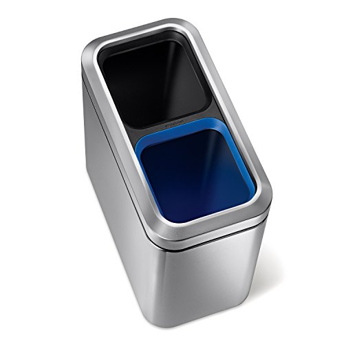 simplehuman Recycler Trash Stainless Steel product image