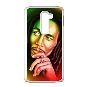 LG G2 Cell Phone Case White Bob Marley hxqa