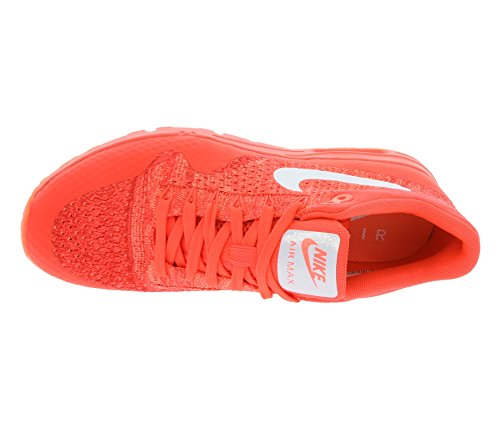 Nike Womens W Air Max 1 Ultra Flyknit, Rosso Brillante / Bianco-università Rosso, 8 Us