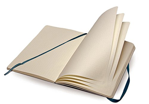 "Moleskine Classic Notebook, Soft Cover, Large (5"" x 8.25"") Dotted, Underwater Blue"