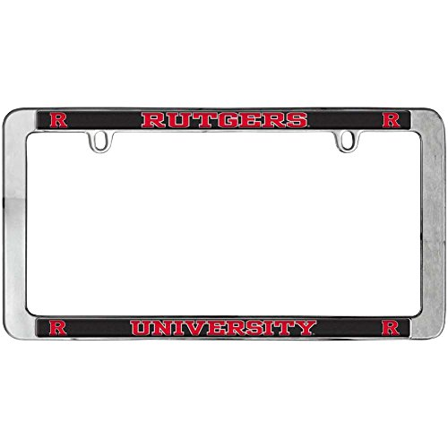 Rutgers Scarlet Knights Thin Metal License Plate Frame (Rutgers License Plate)