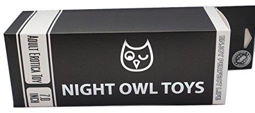 "Night Owl Toys 7"" Sensually Stimulating Pleasurable Realistic Dildo - Sexy, Waterproof, Versatile, Stimulating, Naughty Toy"