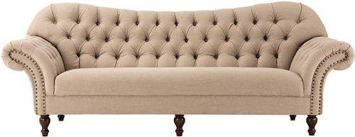 Arden Club Sofa, 34.5'Hx93'W, DRK BGE LINEN