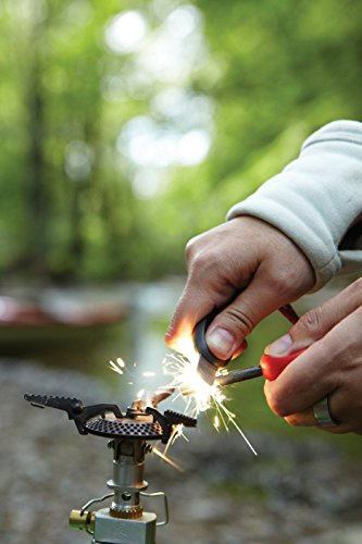 E Spark Traditional Bush Craft Fire steel Outdoor Camping Ferro Flint Stone Rod Fire Starter, Magnesium Lighter, Emergency Survival Tool Kit Mega Size of Flint with 3.54 Inch Length