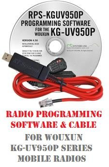 Wouxun KG-UV950P Series Two-Way Radio Programming Software & Cable Kit by RF Gear 2 Go