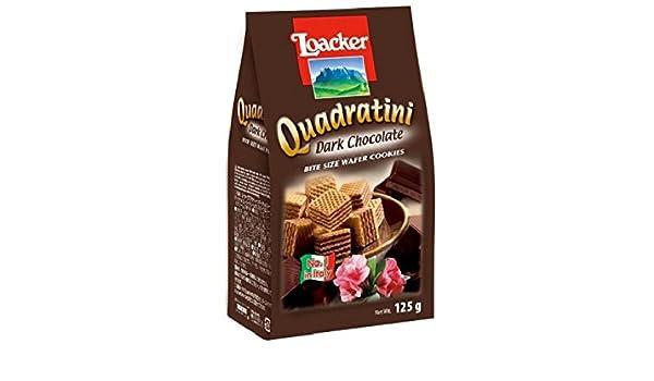 Amazon.com: Loacker Dark Chocolate Quadratini Wafer Biscuits 125 g (Pack of 6)